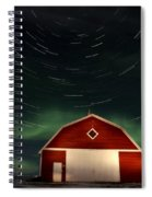 Northern Lights Canada Barn Spiral Notebook