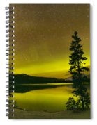 Northern Lights Over The Pines Spiral Notebook