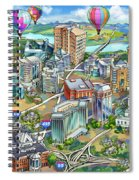 Northern Virginia Map Illustration Spiral Notebook