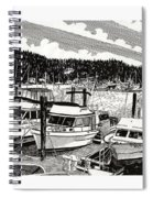 Gig Harbor Yacht Moorage Spiral Notebook