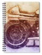 Norton Manx 2 - Norton Motorcycles - 1947 - Vintage Motorcycle Poster - Automotive Art Spiral Notebook