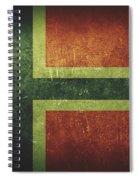 Norway Distressed Flag Dehner Spiral Notebook