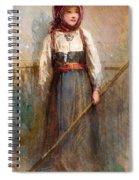 Norwegian Girl Spiral Notebook