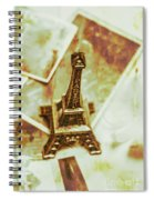 Nostalgic Mementos Of A Paris Trip Spiral Notebook
