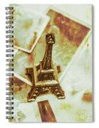 Nostalgic Mementos Of A Paris Trip Spiral Notebook