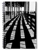 Nostalgic Walk On The Pier Spiral Notebook