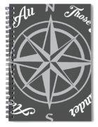 Not All Who Wander Spiral Notebook