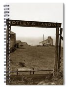 Notleys Landing Big Sur Coast By L. S. Slevin  May 1919 Spiral Notebook