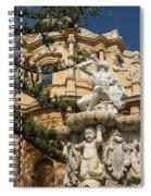Noto Sicilian Baroque - Church Of San Domenico On A Bright Sunny Day Spiral Notebook