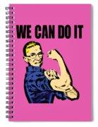 Notorious Rbg Ruth Bader Ginsburg We Can Do It Pop Art Spiral Notebook