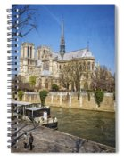 Notre Dame And The Seine Spiral Notebook