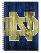 Notre Dame Barn Door Spiral Notebook