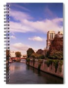 Notre Dame Cathedral And The River Seine - Paris Spiral Notebook