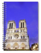Notre Dame Cathedral Paris Spiral Notebook