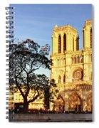 Notre Dame De Paris Facade Spiral Notebook