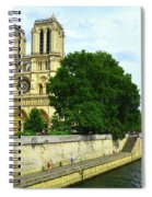 Notre Dame On The Seine Spiral Notebook