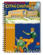 Notre Dame Versus Minnesota 1938 Program Spiral Notebook