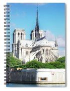 Notre Dame Over Water Spiral Notebook