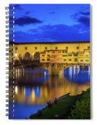 Notte A Ponte Vecchio Spiral Notebook