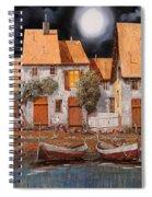 Notte Di Luna Piena Spiral Notebook