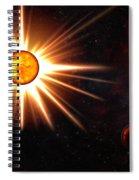 Nova And Dead Star Spiral Notebook
