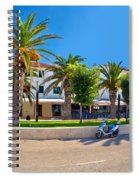 Novalja On Pag Island Palm Waterfront View Spiral Notebook