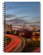 November Sun Setting Over Charlotte North Carolina Skyline Spiral Notebook