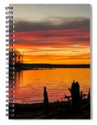 November Sunset Manasquan Reservoir Nj Spiral Notebook