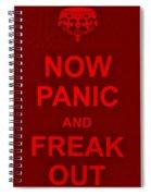 Now Panic 9 Spiral Notebook