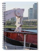 Interior Of Lifeboat Queen Mary Spiral Notebook