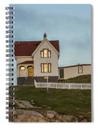 Nubble At Sunset Spiral Notebook
