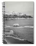 Nubble Light Black And White Spiral Notebook