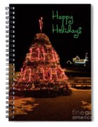 Nubble Light - Happy Holidays Spiral Notebook