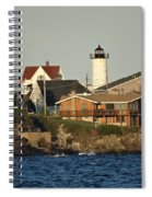 Nubble Light House Beach View Spiral Notebook