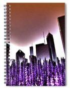 Nuclear Chicago Skyline Spiral Notebook