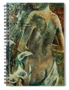 Nude And Arums Spiral Notebook
