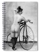 Nude And Bicycle, C1885 Spiral Notebook