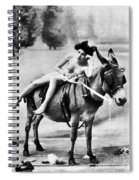 Nude And Donkey, C1900 Spiral Notebook