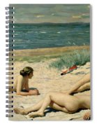 Nude Bathers On The Beach Spiral Notebook