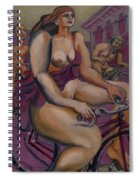 Nude Cyclists With Carracchi Bacchus Spiral Notebook