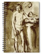Nude Drawing For A Youth Spiral Notebook