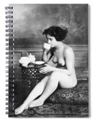 Nude Drinking Tea, 19th Ct Spiral Notebook