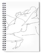 Nude-female-drawing-17 Spiral Notebook