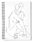 Nude-female-drawing-19 Spiral Notebook