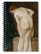Nude Drying Herself After A Bath Spiral Notebook