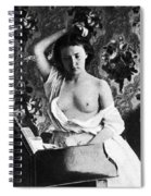 Nude Fixing Hair, C1861 Spiral Notebook