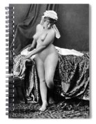 Nude In Bonnet, C1885 Spiral Notebook