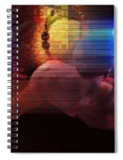 Nude In Glitchscape Spiral Notebook