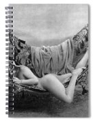 Nude In Hammock, C1885 Spiral Notebook