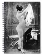 Nude In Stockings, C1880 Spiral Notebook